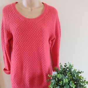 Gap Coral Sweater, Cuffed Sleeves, Size Large